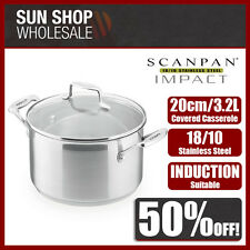 100% Genuine! SCANPAN Impact 20cm 3.2L Covered Dutch Oven Casserole! RRP$129.00!