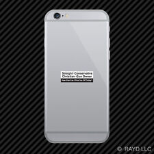 Straight Conservative Christian Gun Owner Cell Phone Sticker Mobile Bumper