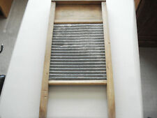 """ANTIQUE WASHBOARD WOOD  & METAL """"NO NATIONAL 703"""" 8&1/2 x 18"""" NICE CONDITION"""