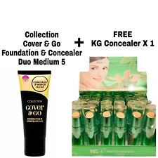 COLLECTION COVER & GO FOUNDATION CONCEALER DUO MEDIUM 5 FREE CONCEALER x 1