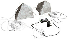 Eagle Bluetooth Garden Speaker Kit Outdoor Weather Resistant 2x Speakers 1x Amp