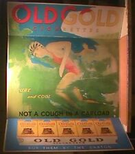 HUGE 1940S OLD GOLD CIGARETTES ADVERTISING DISPLAY -ROLF ARMSTRONG  PIN UP -RARE