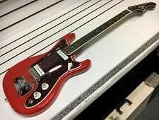 1960s Eko Vintage Cobra II Electric Guitar w/ OHSC Red Made In Italy