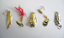 5PCS Spoon Fish Fishing Lure Spoons Hook Bass Spinner baits