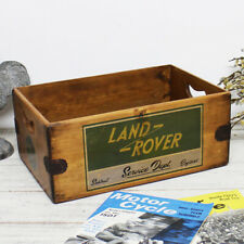 Land Rover Service Box Handcrafted Wooden Spares Crate