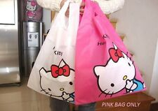 HELLO KITTY PINK REUSABLE SHOPPING GROCERY BAG TOTE PINK COLOR ONLY NYLON SANRIO