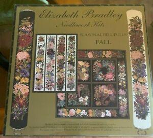 New Elizabeth Bradley Needle Work Kit - Seasonal Bell Pulls Fall