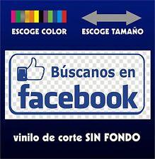Sticker Vinilo - Buscanos en Facebook - Escoge color y tamaño - Pegatina - Vinyl