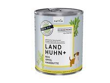 naftie Bio Land Huhn+ Hundefutter Nassfutter Menü, 6x800g Sparpaket