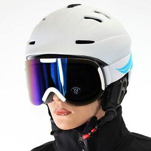 classic DAMEN Skibrille Sonnenschutz S3 glacier dunkel getönt weiß ~yx04 3663