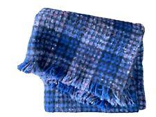 "Vintage Deweys of Vermont 100% Wool Throw Blanket 58"" X 51"""