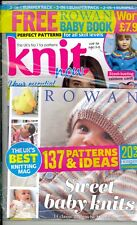 Knit Now Issue 82 Factory Packaged Includes Free Rowan Baby Book
