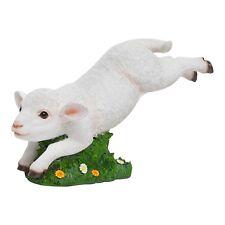 Realistic Jumping Lamb Sheep Garden Ornament Statue Polyresin Farmyard Figure