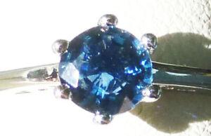 5mm Montana Sapphire ROUND Diamond cut Deep Pacific Blue VS AUTHENTIC sz.7 ring