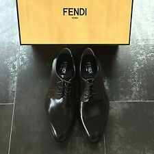 FENDI Mens Dark Brown Leather Lace-Ups in UK7 | US8 *Runs large, Fit like US9*