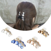 Elegant Women Crystal Plastic Hair Claw Crab Clamp Barrettes Top Clips Hair Clip