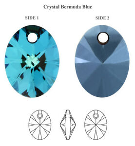 Genuine SWAROVSKI 6028 XILION Oval Crystals Pendants * Many Sizes & Colors