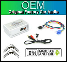 Citroen Berlingo AUX in lead Car stereo Android Smartphone player connection ada