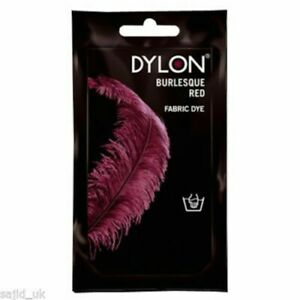 Dylon Fabric and Clothes Hand Dye 50g - Burlesque Red, PACK OF 2