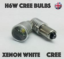 2x CANBUS H6W Cree Bulbs LED White 5W Car Sidelights BAX9S BMW MERCEDES VW ALFA