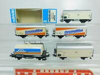 BP623-1# 5x Märklin H0/AC Güterwagen: Ovomaltine SBB + 4415 DB, 2. Wahl+1x OVP