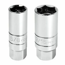 Powerbuilt 2 Pc. 3/8 in. Drive Magnetic Spark Plug Socket, 5/8-in. and 13/16-in.