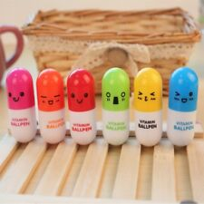Pen Cute Facial Expressions 2 PCS Telescopic Capsul Ballpoint Pen Vitamin