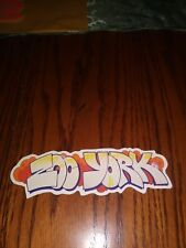 ZOO YORK SKATEBOARDS OG THE GRAFFITI ZOO YORK LOGO DIE CUT SKATEBOARD STICKER