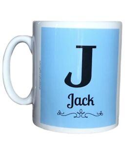 Personalised Boys Initial And Name Mug. Mugs For A Boys Birthday Or Christmas