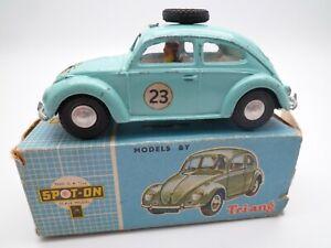 VINTAGE TRIANG SPOT ON 195 VOLKSWAGEN BEETLE RALLY CAR IN ORIGINAL BOX 1963 HTF
