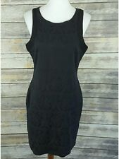 Guess Women's Sleeveless Little Black Sheath Dress Cocktail Party Size L Large