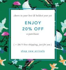 20% Off ANTHROPOLOGIE Entire Purchase Promo-Coupon Code Ex 12/18 Online/In Store