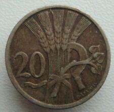 Czechoslovakia 20 Haleru 1921 Copper-Nickel Coin S4