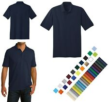 MEN'S EASY CARE, 50/50 COTTON/POLY, POLO SHIRT, SOIL RELEASE, TALL, LT-4XLT