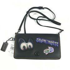 COACH 32760 DISNEY SNOW WHITE BLACK LEATHER CROSS BAG NWT