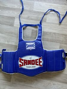 Sandee Blue & White Synthetic Leather Authentic Body ShieldSize xs