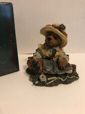 Boyd's Bears Collectibles Bearstone Collection Otis the Fisherman w Box
