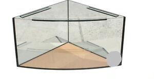 Eck Aquarium 85 x 85 x 50 cm Delta  8 mm Floatglas  Becken Gebogen ca. 220 L