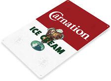 TIN SIGN Carnation Retro Ice Cream Sign Parlor Kitchen Farm Cottage Shop A035