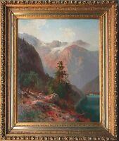 Hugo Veit 1816-1893 Berlin: Königssee Berchtesgadener Land Ölgemälde um 1850