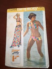 Simplicity 5644 Medium 12-14 Miss Bikini+Wrap Tie Skirt Cut