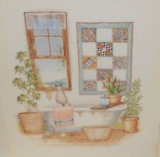 CAROL JEAN CAT IN THE BATHROOM SMALL LITHOGRAPH