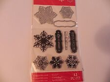 Art-C Christmas 2016 Stamp & Cut Set - Snowflakes -#686 -NEW!!