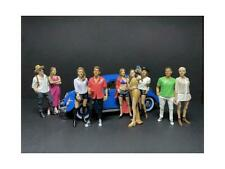 """""""Partygoers"""" 9 piece Figurine Set for 1/24 Scale Models by American Diorama"""