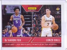 2017-18 Panini Instant #45 De'Aaron Fox Lonzo Ball Rookie Card - Only 133 made!