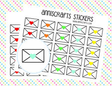 50 Rainbow Happy Mail Envelope Stickers Planner Stickers Multicolor Labels Color
