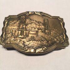 Vintage Crude Oil Field Brass Belt Buckle Kolcaco USA Gas Petroleum Engineering