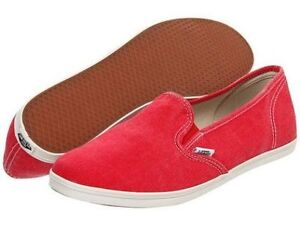 Vans Shoes Slip On Lo Pro Washed Red USA SIZE GIRLS Sneakers