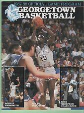 Georgetown Hoyas 1988 Program & 1989 - 1993 26 card lot Ewing Mourning Mutombo
