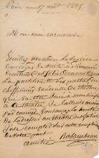 Louis Minet Rosambeau acteur autographe signé Folies Dramatiques Mourier 1834